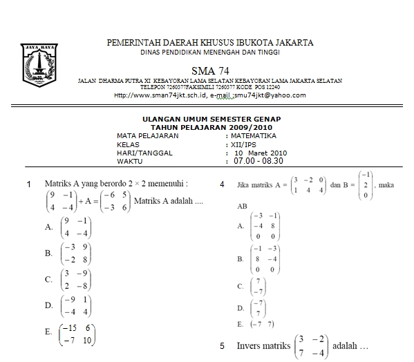 Bank Soal matematika  Matematikaicts Blog