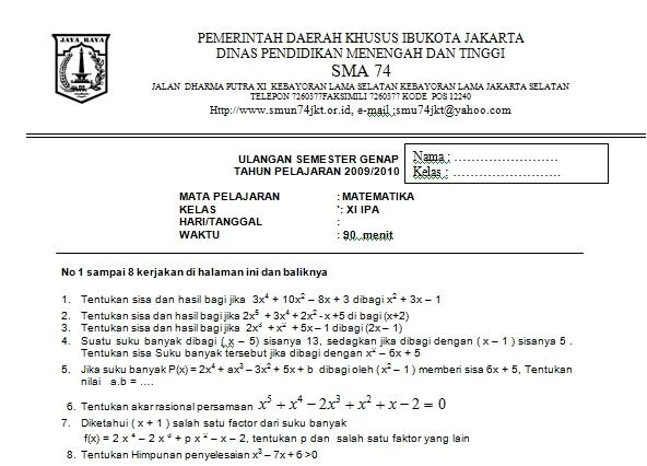 kelas xi ipa tes sumatif bahasa indonesia sd kelas 3 semester 2 .